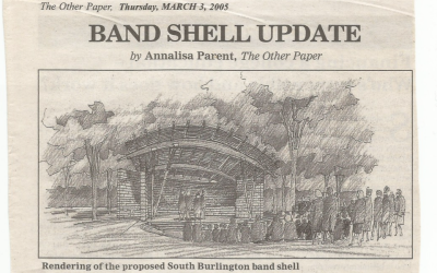 South Burlington Vermont Staff Reporter: Band Shell Update