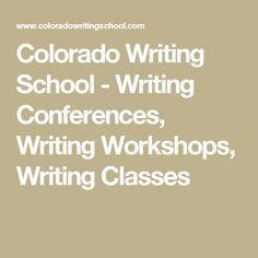 Colorado Writing School