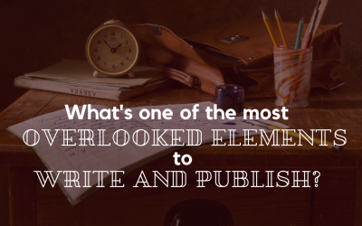 What's one of the most overlooked elements to write and publish?